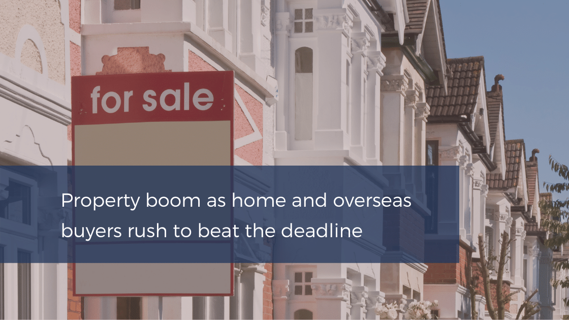 Stamp duty deadline property boom