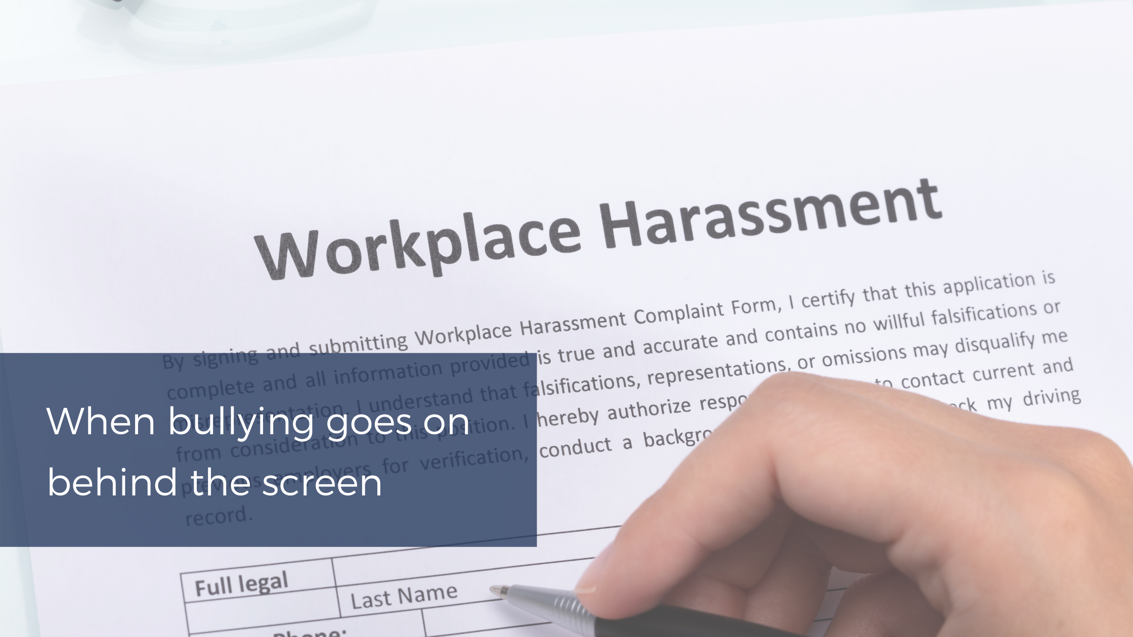 Workplace anti-bullying and harrassment