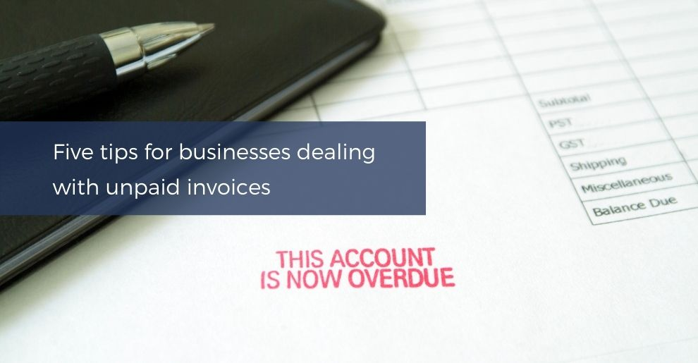 Businesses dealing with unpaid invoices
